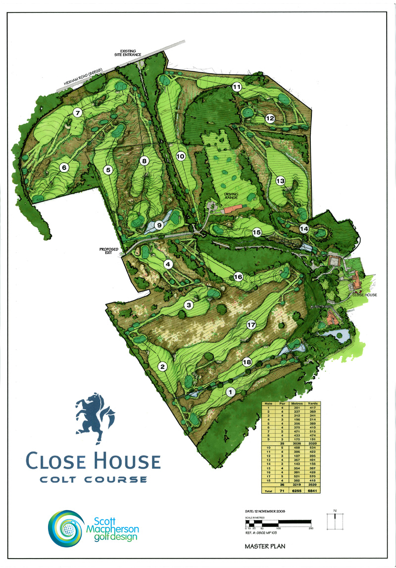 Plans scott macpherson golf design for Golf course house plans